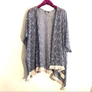 [Accessory St] Blue/White Knit Cardigan - One Size